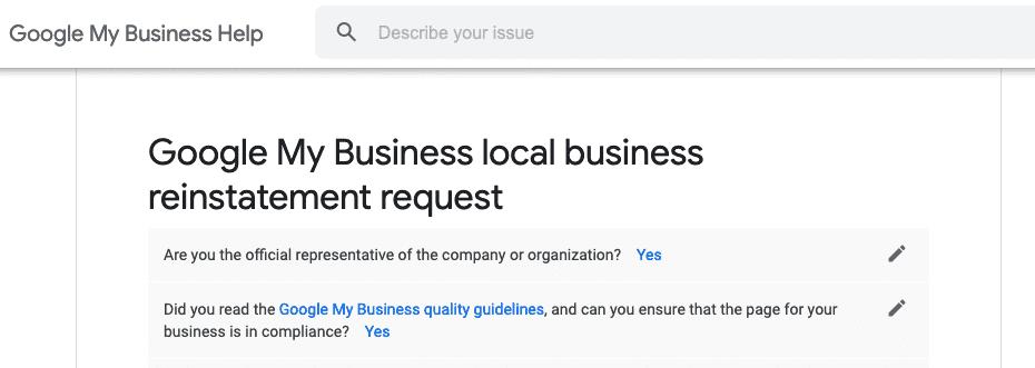 Google local glitch