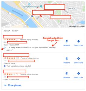 Google Post snippet