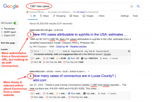 Google screenshot 1387 cases