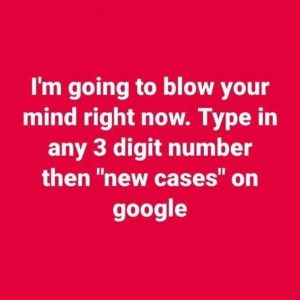 google new cases three digit number